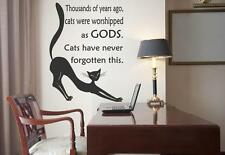 Thousands of years ago, cats were worshipped as gods. Wall Sticker 30cm x 40cm