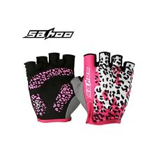 SAHOO Bicycle Gloves Half Finger Cycling Gloves Shockproof Anti-slip Women Glove