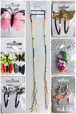 💜 Girls Hair Clips Slides Grips Children Kids Accessories Clamps Braid Rings