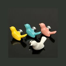 Bird Ceramic Cabinet Closet Dresser Cupboard Drawer Door Handles Pulls Knobs