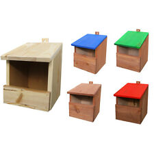 Hand Made Wooden Bird Nesting Boxes /Unique House /Hanging Decorative Wood Box