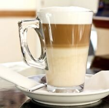 New Glass Cappuccino Cups And Saucers Sets Ideal For Tassimo & Dolce Gusto Pods