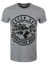 Green Day Cat Crest Men's Grey T-shirt