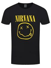 Nirvana Smiley Logo Men's Black T-shirt