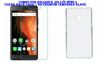 Combo For Reliance Jio Lyf Wind 4 - Clear Back Case + HD Premuim Tempered Glass