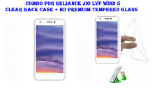 Combo For Reliance Jio Lyf Wind 5 - Clear Back Case + HD Premuim Tempered Glass
