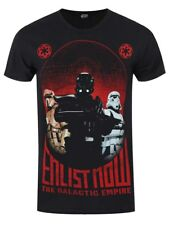 Star Wars Rogue One Enlist Now Men's Black T-shirt