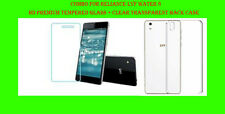 Combo For Reliance Lyf water 8  HD Premuim Tempered Glass + Clear Back Case