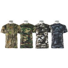 GAME Camouflage Slim Fit Camo T Shirt Hunting Military Fishing Army T Shirt Camo