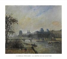 New The Seine and The Louvre Camille Pissaro Print