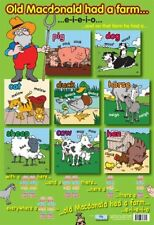 New Old Macdonald's Farm Traditional Nursery Rhyme Mini Poster