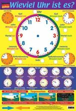 New What's the Time in German Learn a Language Mini Poster