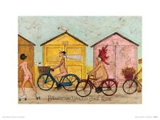 Sam Toft Brighton Bike Ride Print 30x40cm