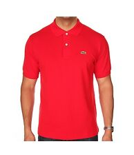 Polo Lacoste L1212 240 t7 red rouge cotone classic fit p17