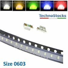 10 x LED SMD 0603 Ultrahelle leds weiß, blau, rot, grün, orange Super Bright