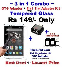 ★3 in 1 Combo★OTG ADAPTER+Sim ADAPTER KIT+TEMPERED GLASS For SAMSUNG C9 PRO