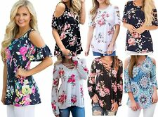 Womens Floral Paisley Caged Cut Out Off The Shoulder Party Top Plus Size 12 - 18
