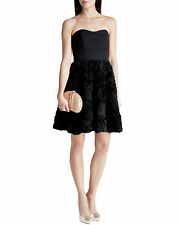 """TED BAKER """"FLAWRA"""" BLACK FITTED FLORAL PARTY OCCASION DRESS UK10/2 BNWT RRP £460"""