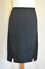 "TED BAKER ""COSTEY"" BLACK SNAKE TEXTURED PENCIL LINED SKIRT BNWT RRP £119 UK 10"