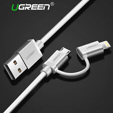 Ugreen 2 in 1 Cavo Lightning Micro USB Cavetto Ricarica Cavo Dati per iPhone LG
