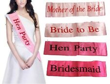 Hen Party Sashes Girls Night Out Pink Wedding Bride Event Accessories Ribbon