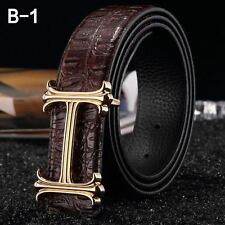MENS LEATHER BELTS FOR MEN & WOMEN,H BELT, H BUCKLE,LEATHER,REVERSIBLE BELTS.H