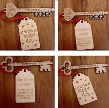 PERSONALISED SANTA MAGIC KEY FATHER CHRISTMAS TRADITION CHRISTMAS EVE WOODEN