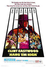 """APPENDERE EM HIGH"" Clint Eastwood.Classic Western Locandina Film"