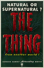 """"""" THE THING FROM ANOTHER WORLD"""" Howard Hawks Vintage Cartel de película"""