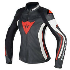 DAINESE ASSEN nero / Bianco/Fluo Rosso Moto Donna Giacca in pelle
