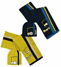 Niños Bart Simpson The Simpsons sombrero y bufanda set hm4284