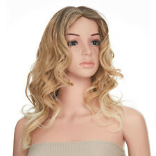Onedor Light Blonde Ombre Curly Dark Rooted Long Hair Cosplay Fashion Wig