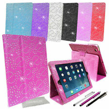 cuoio Brillante Strass Custodia Cover Chiara supporto per IPAD &