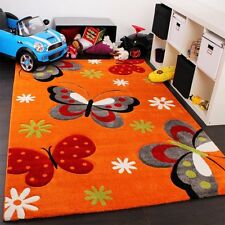 Children Orange Rug Kids S Bedroom Carpet Baby Nursery Play Mat Erfly