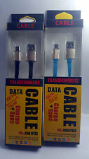 Micro USB Data Leather CABLE/CHARGING WIRE FOR SAMSUNG MICROMAX LAVA SONY HTC LG