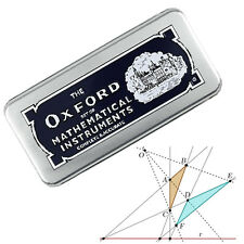 GEOMETRY SET THE OXFORD MATHS TECHNICAL SET TIN CASE GEOMETRY STATIONERY SET BOX