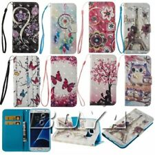 For Samsung phones case pu leather stand wallet magnetic flip cover