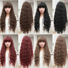 Womens Cosplay Wig Long Wavy Curly Ombre Red Hair Costume Party Lolita Full  GA