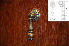 Retro Brass Finish Furniture Kitchen Drawer Cupboard Cabinet Pull Handles Knob