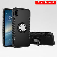 Soft TPU + Hard PC Cover Car Holder Magnetic Suction Bracket Case for iphone 8