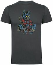 Transformer Autoblock T-Shirt - Funny Young Optimus Prime inspired design
