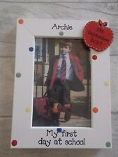 Personalised First Day At School Photo Frame Gift 6X4 5X7 8X6 10X8 ANY WORDING