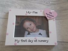 Personalised First Day At Nursery School Photo Frame Gift 6X4 5X7 8X6 10X8