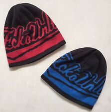 ECKO UNLIMITED REVERSIBLE BEANIE HAT - BLACK & RED OR BLUE - ONE SIZE - **NEW**