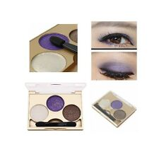 3 Colors Smokey Eye Shadow Palette Kit Glitter Shimmer Eyeshadow Gold Eyes Makeu