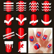 French Nail Art Tip Tape Guide Stencil Manicure Tool For Sticker Decal Decoratio