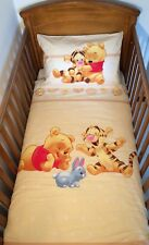 Disney Winnie and Tigger Beige Bedding Set for Cotbed