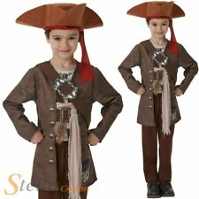 Boys Deluxe Jack Sparrow Costume Official Pirates Of The Caribbean Fancy Dress