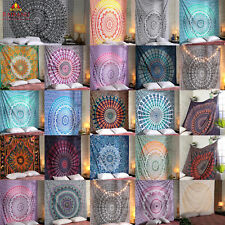 Bohemian Mandala Tapestry Indian Wall Hanging Decor Hippie Queen Bedspread Throw