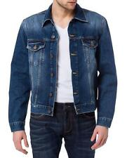 Cross Herren Jeansjacke - Regular Fit - Blau - Deep Blue
